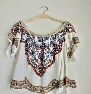 Women's Top - Boho Off Shoulder Top | DS Collections Nepal