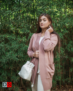 Plus Size Long Cardigan With Pocket