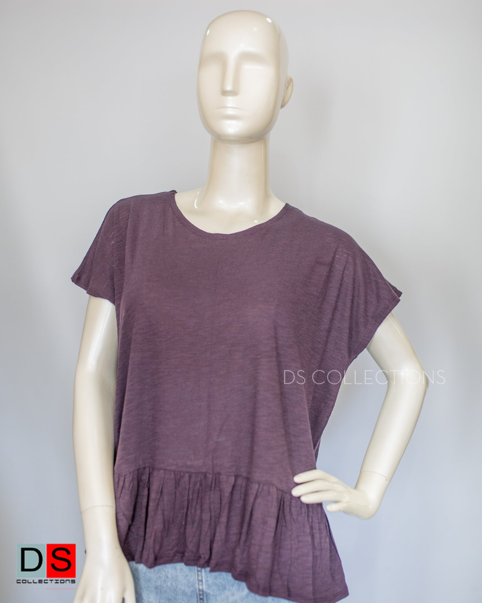 Women's Top - Basic Peplum Tops| DS Collections Nepal