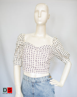 Women's Top - Puffed Sleeve Crop Tops| DS Collections Nepal