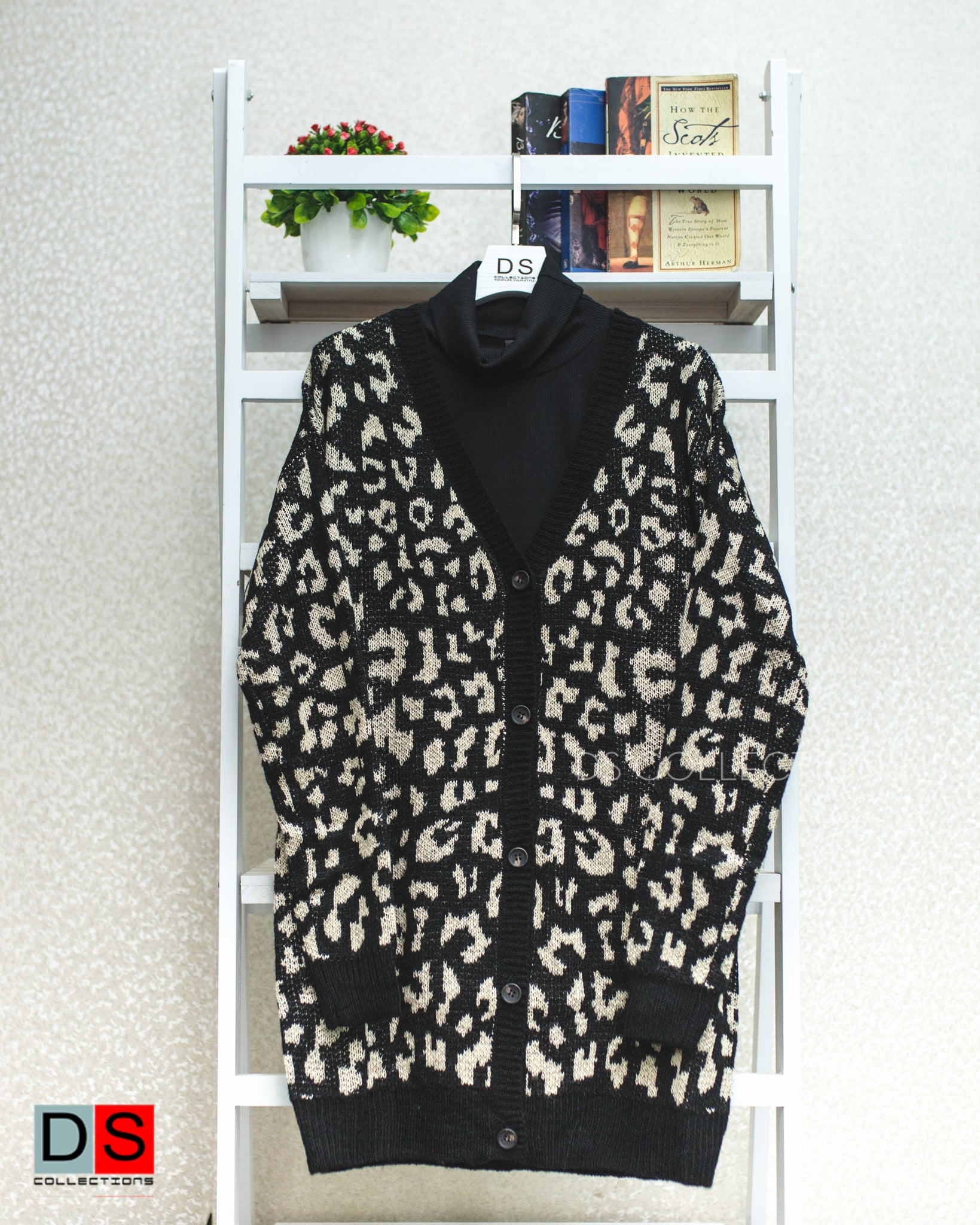 Women's Cardigan - Leopard Print Cardigan | DS Collections Nepal