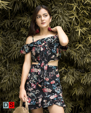 Women's Set - Off- Shoulder Tops and Skirt Set | DS Collections Nepal