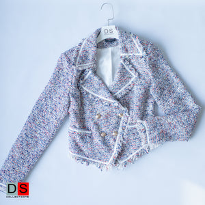 Multicoloured Tweed Blazer