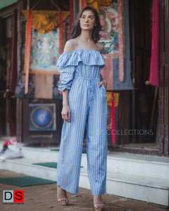 Women's Jumpsuits - Stripe Off- Shoulder Stripe Jumpsuits | DS Collections Nepal