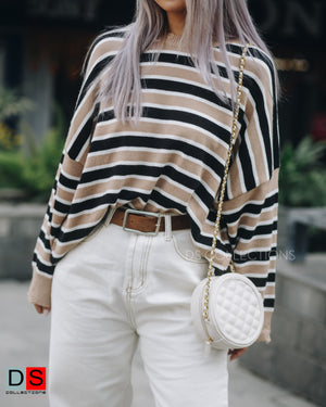 Oversized Striped Sweater