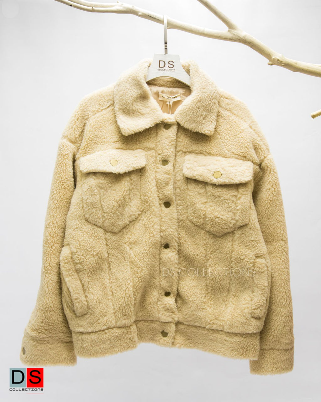 Over Size Teddy Jacket With Pocket At Front