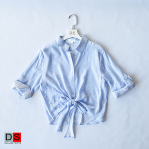 Tie Knot Striped Shirt