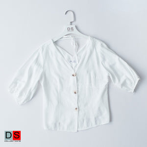 Self Tie Button Down Top