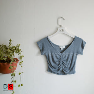 Gathered Fornt Crop Top