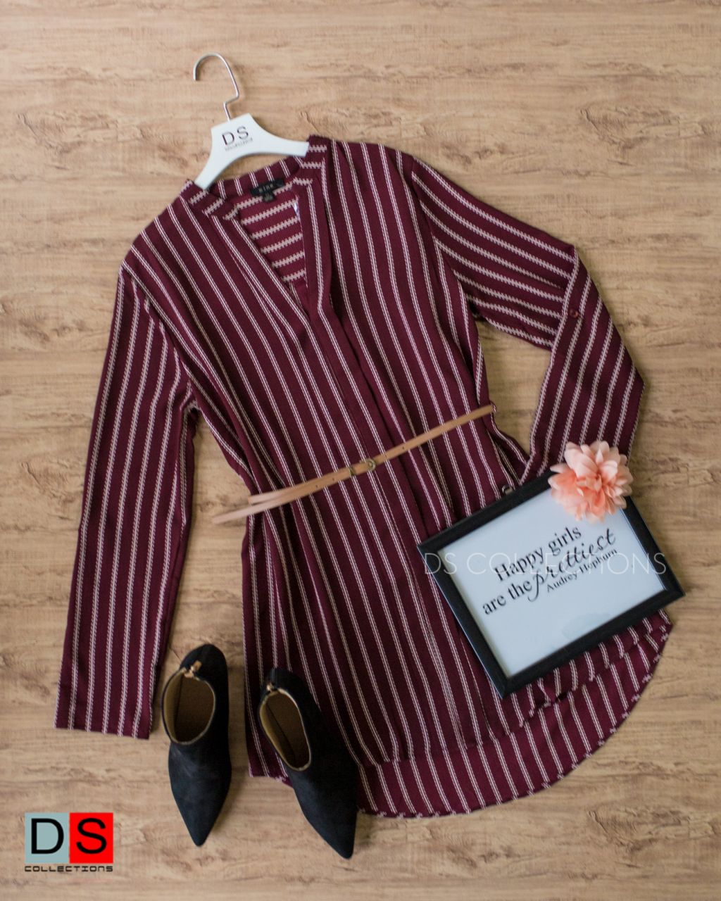 Vertical Striped Tunic Dress