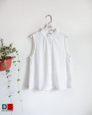 Victorian Neck Button Down Top