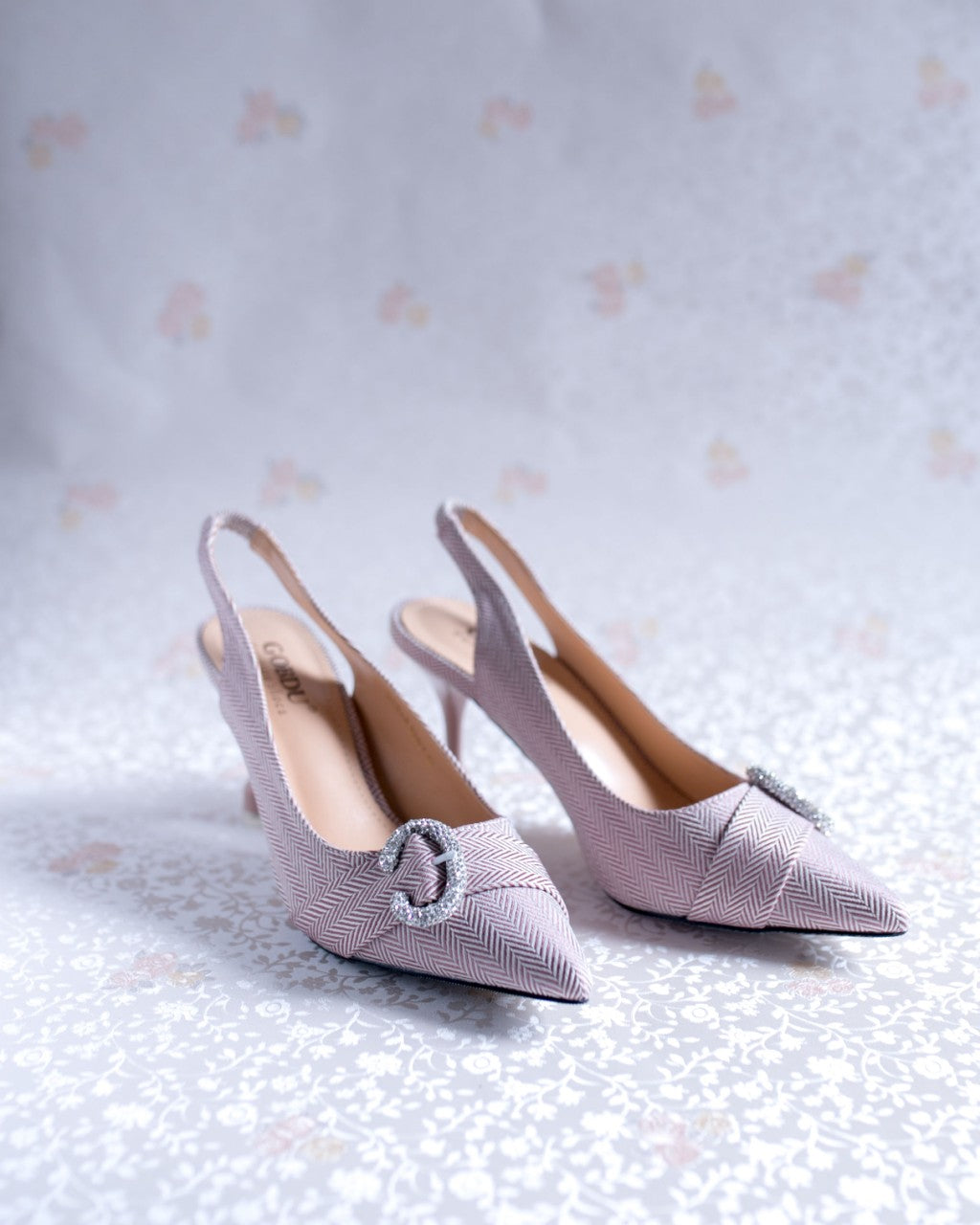 Closed Toe Low Pencil Heel