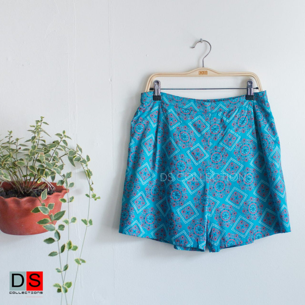 Mandala Print High Waisted Shorts
