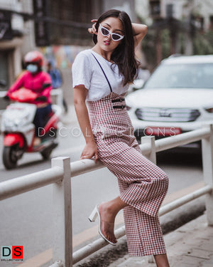 Women's Jumpsuits - Gingham Jumpsuit | DS Collections Nepal