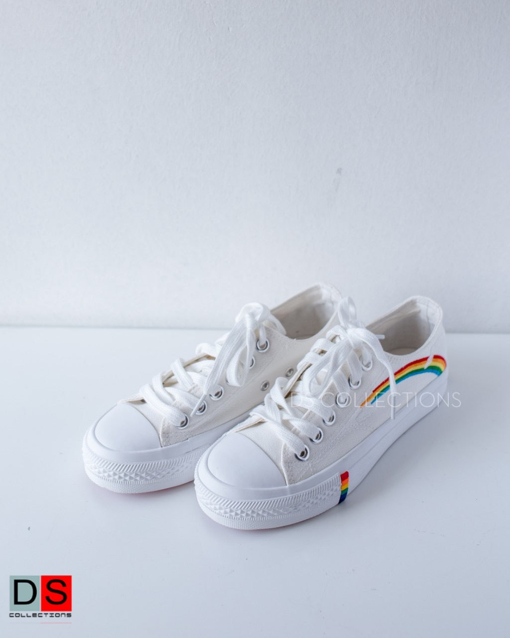 Lace Up Rainbow Sneakers