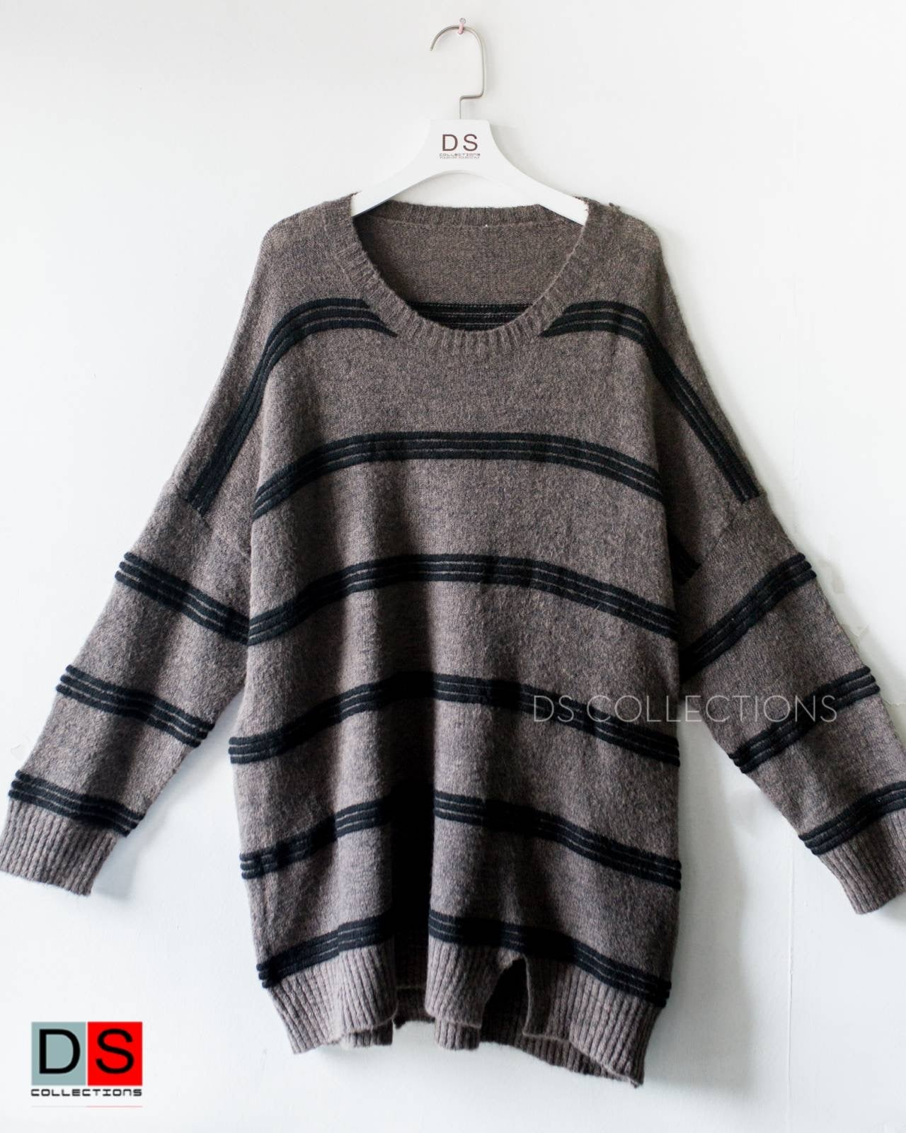 Triple Striped Oversized sweater
