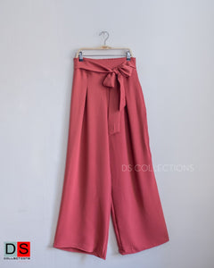 Tie-Front Parallel Pant