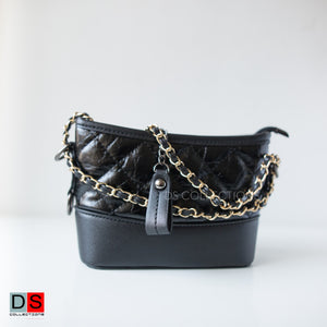 Qulited Small Side Bag With Golden Sling
