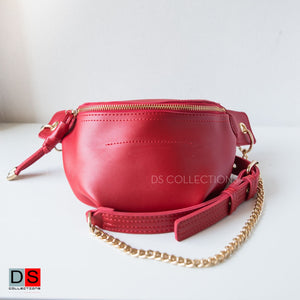 Fanny Bag With Gold Chain Straps