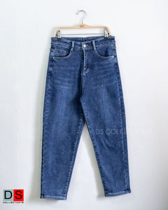 High Waisted Boyfriend Jeans With Fleece Inside