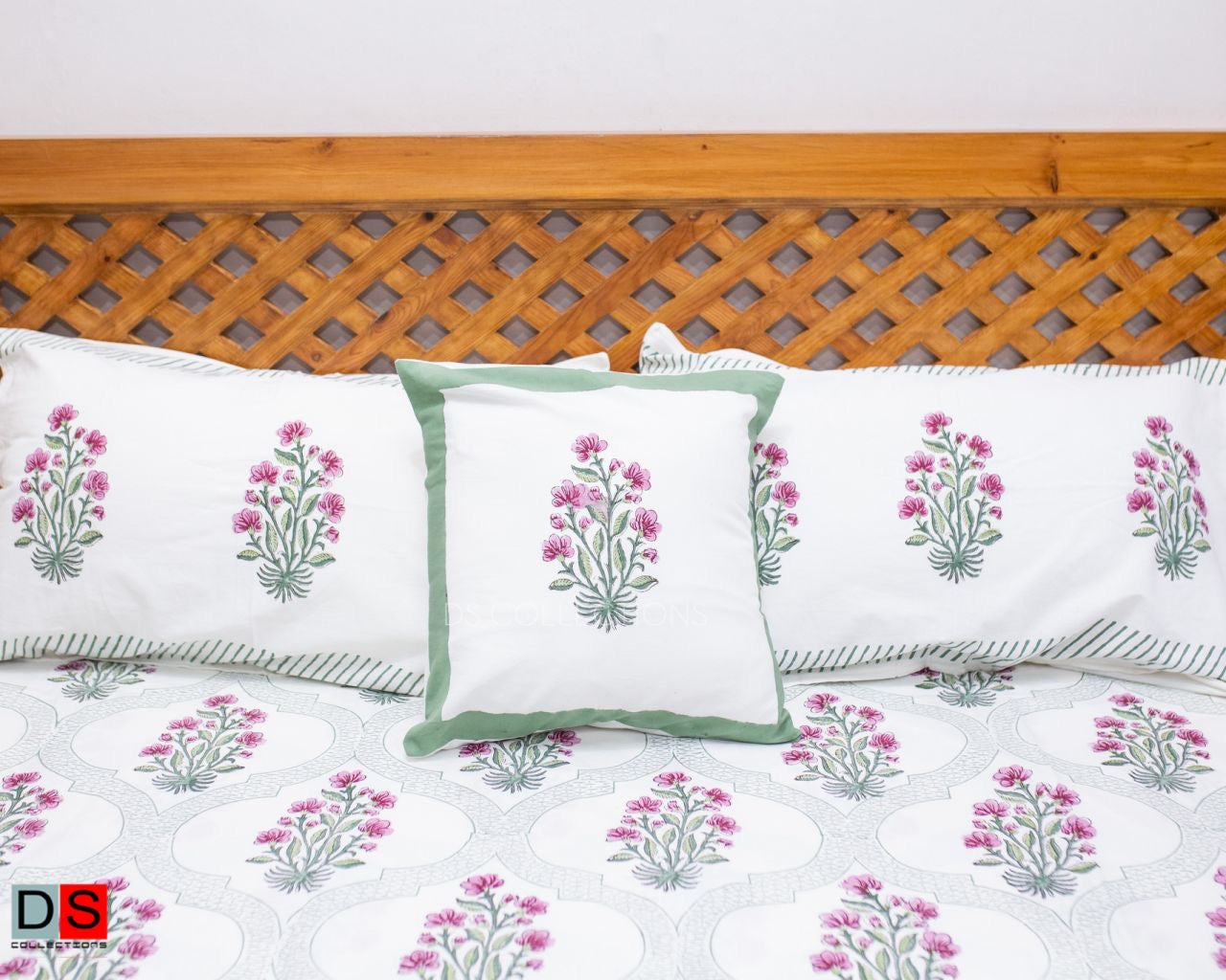 Hand Block Printed Cotton Pillow Cover