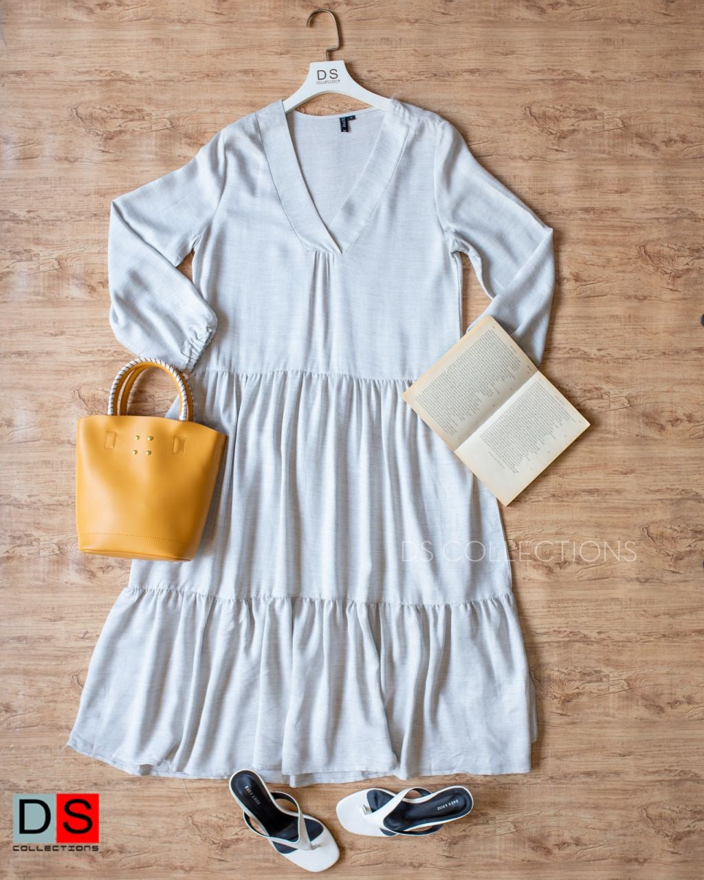 V-Neck Layered Dress