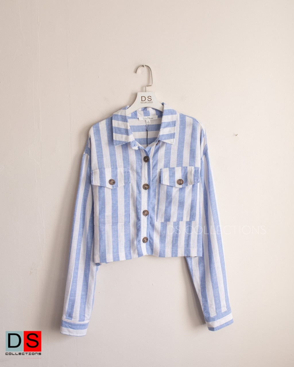 Crop Lining Button Down Shirt