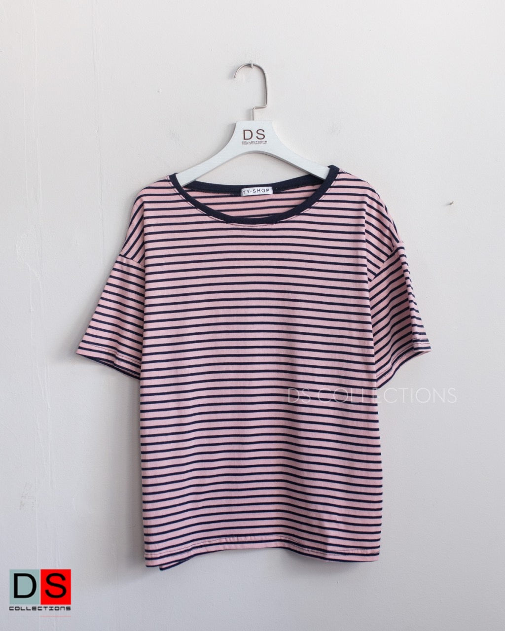 Round Neck Stripe Tee