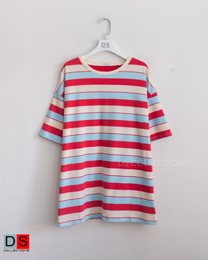 Oversized Striped Basic Tee