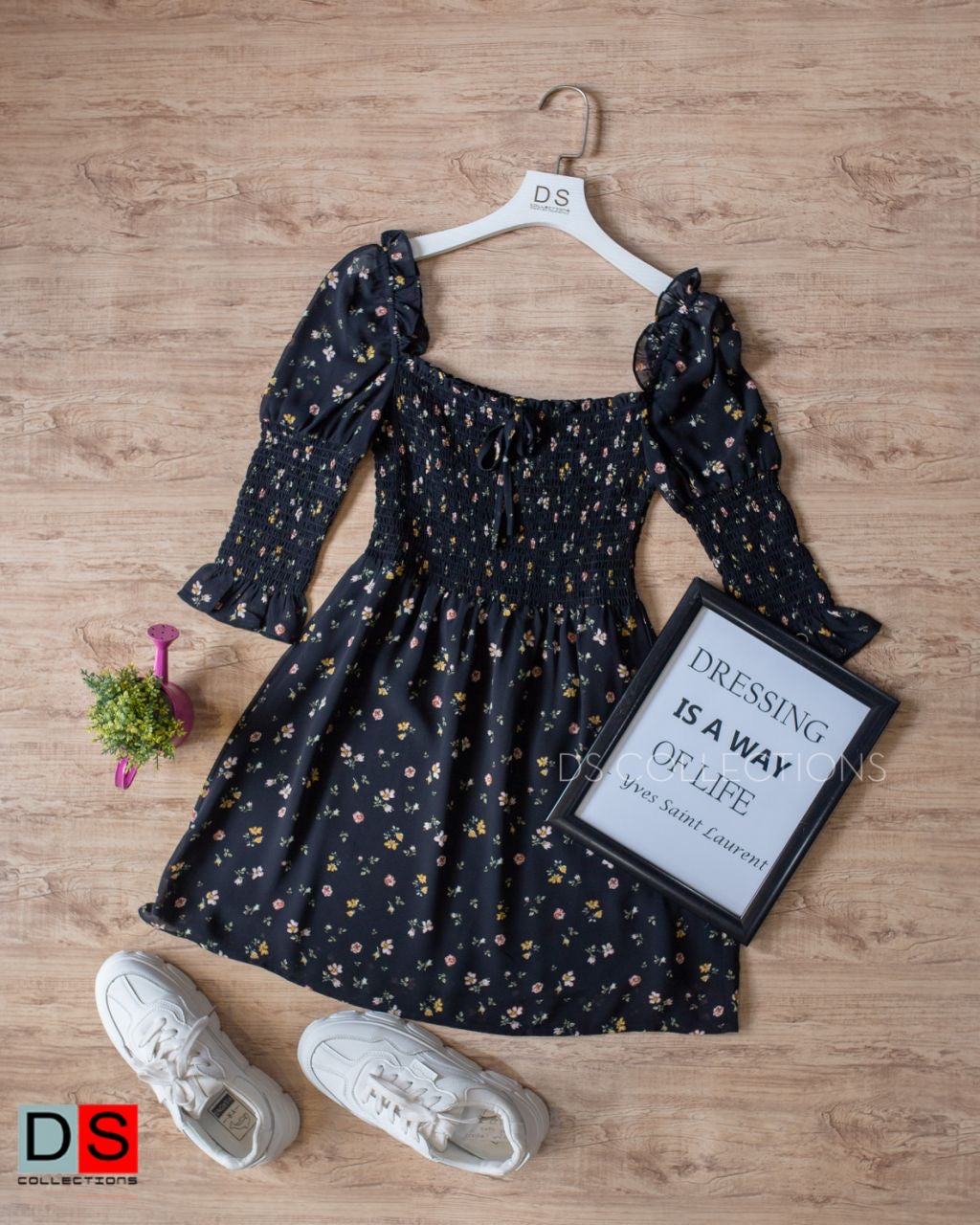Chiffon Off Shoulder Floral Mini Dress