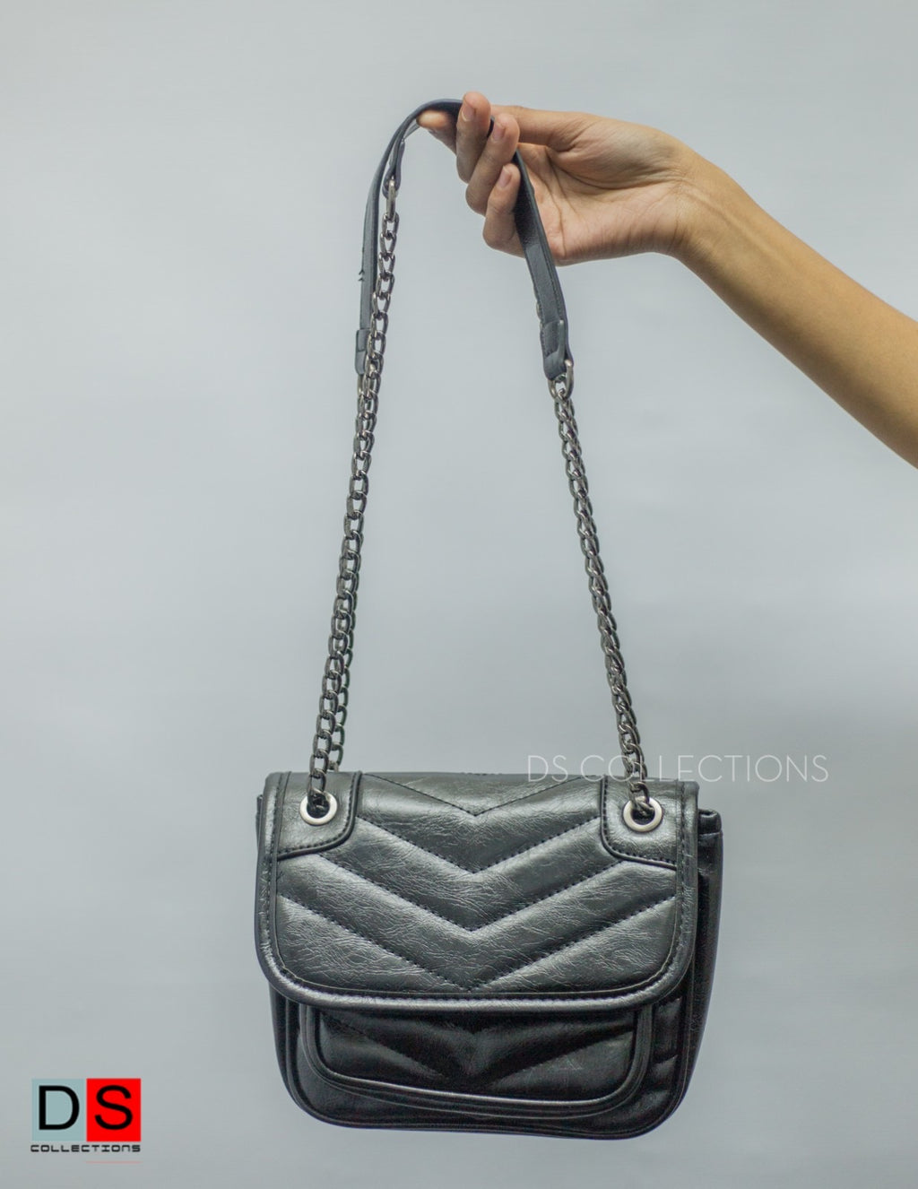 Side Sling Quilted Crossbody Bag