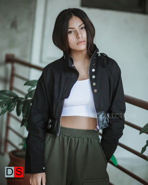 Women's Jacket -Military Cropped Jacket | DS Collections Nepal