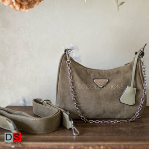 Hobo Shoulder Bag With Crossbody Straps And Pouch