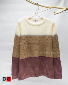 Color Striped Knitted Sweater