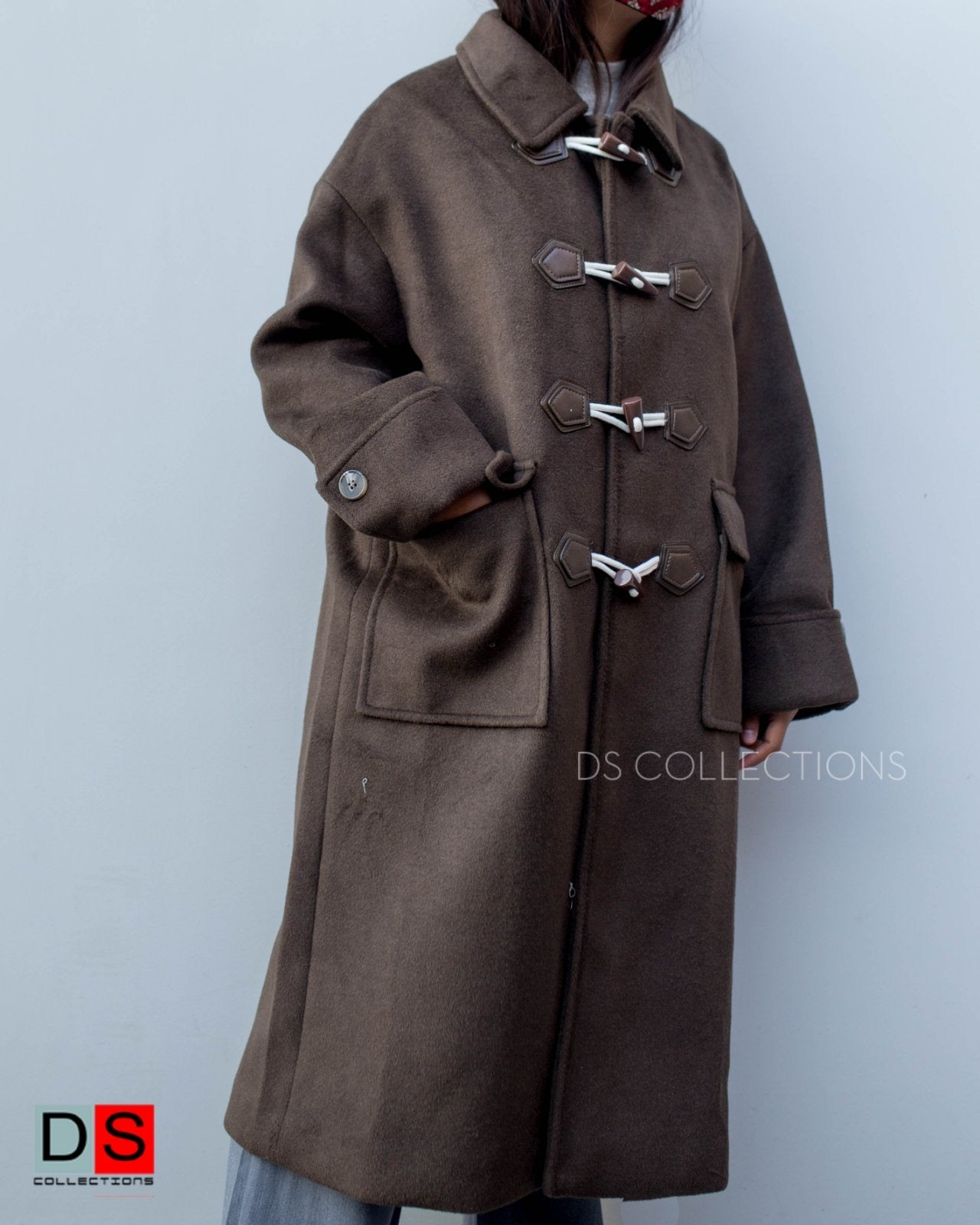 Elephant Tooth Button Long Coat