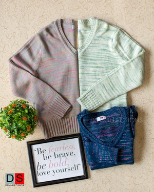 Mixed Color Sweater Top