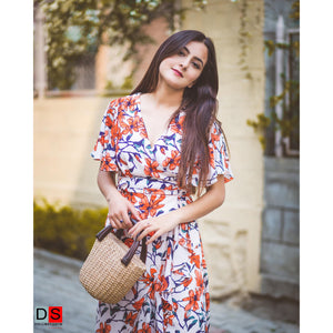 Women's Dress - High-Low Wrap  Dress | DS Collections Nepal