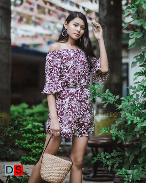 Women's Romper - Printed Off- Shoulder Romper | DS Collections Nepal