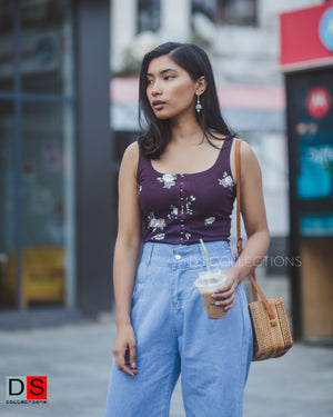 Women's Top - Floral Corset Crop Tops | DS Collections Nepal