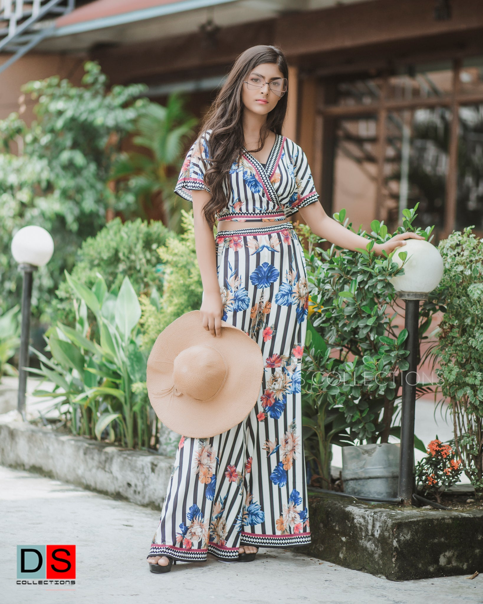 Women's Pant - Printed Flare Pant | DS Collections Nepal