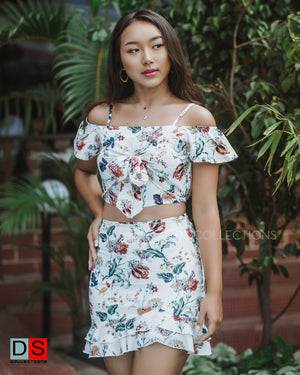 Women's Set-  Off- Shoulder Tops and Skirt Set | DS Collections Nepal