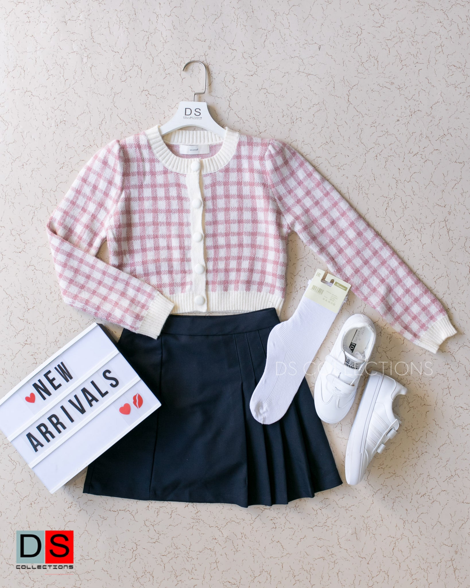 Tartan Crop Sweater Top