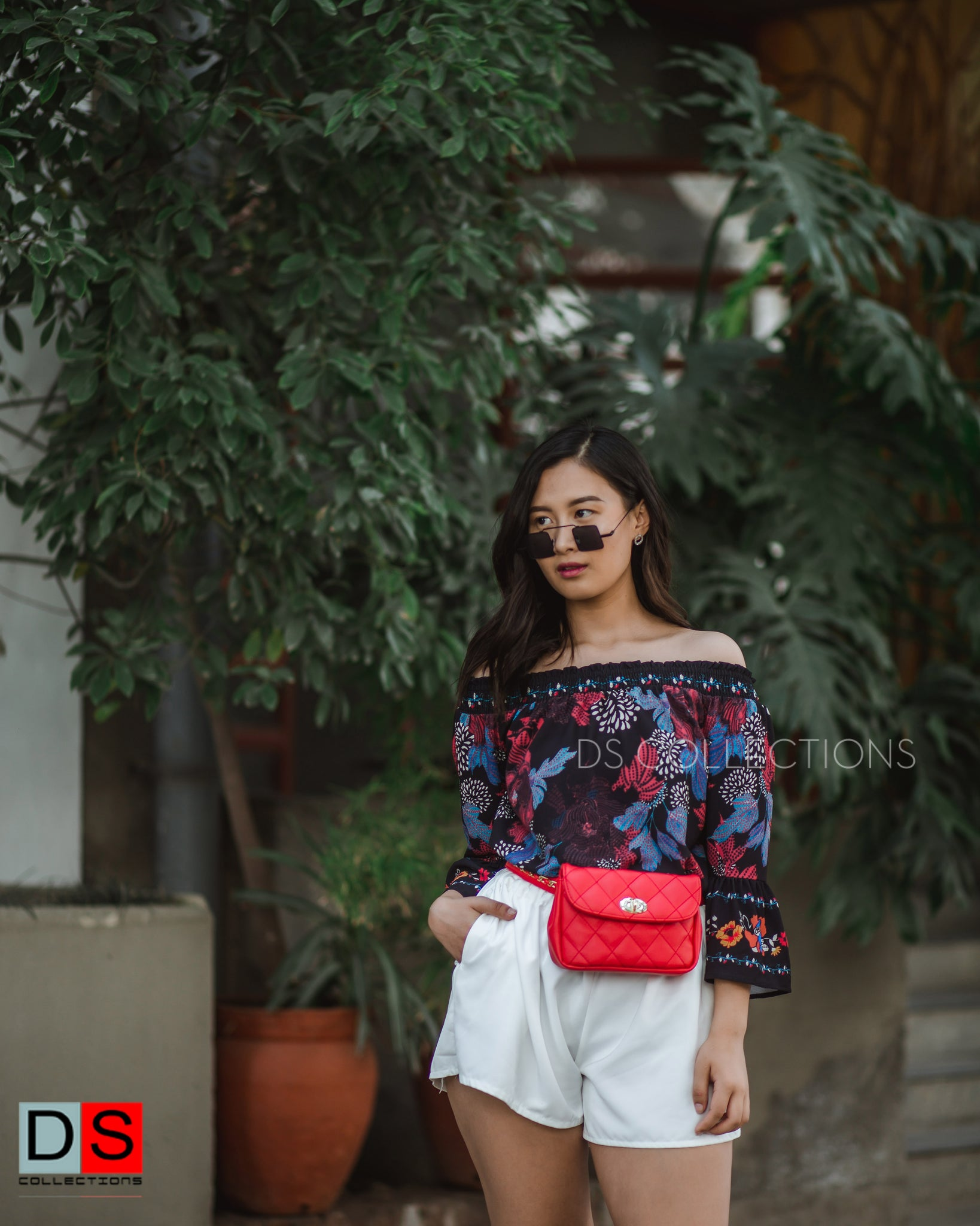 Women's Top -  Off Shoulder Floral Top | DS Collections Nepal
