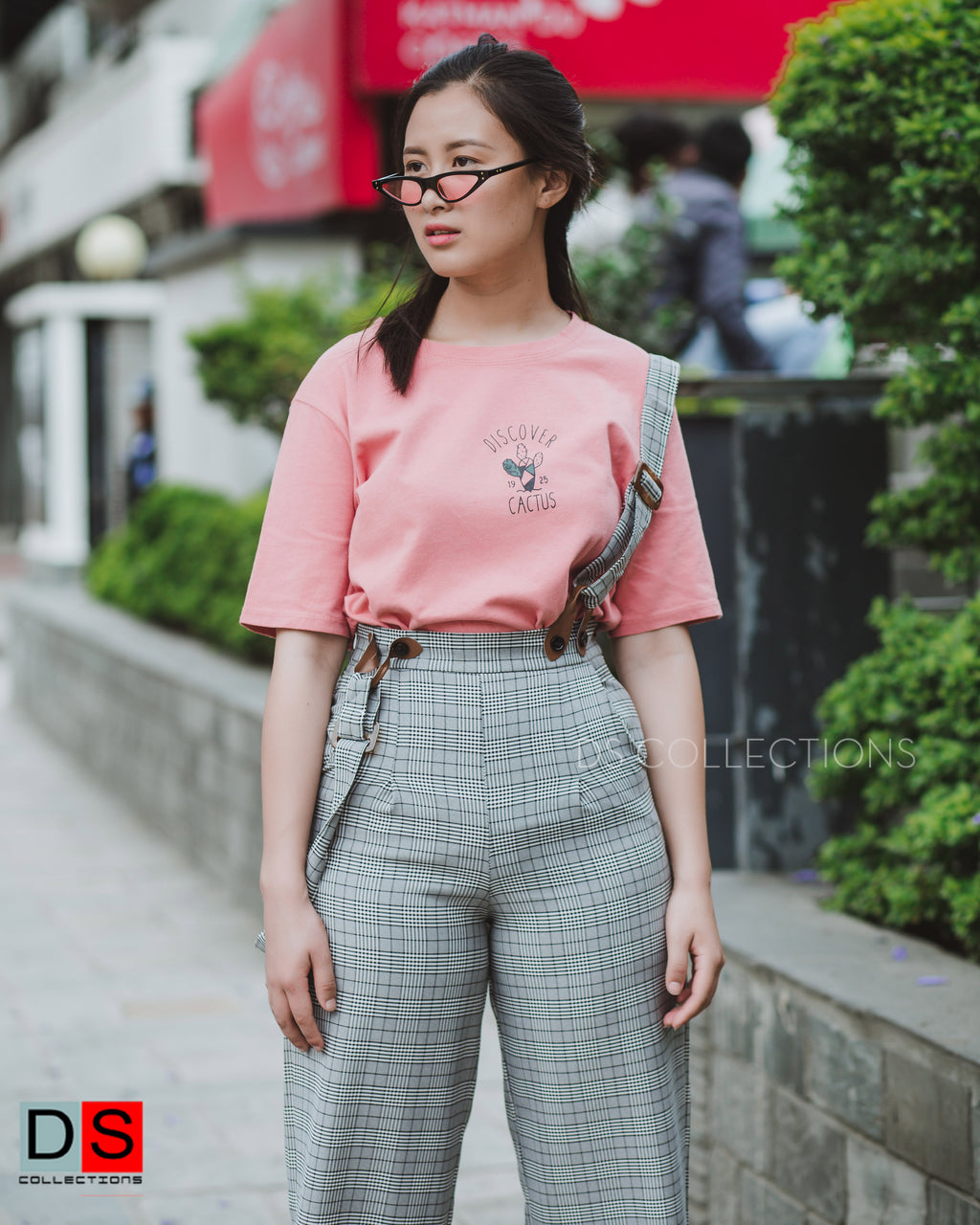 Women's Pant - Checkered Pant With Suspenders | DS Collections Nepal
