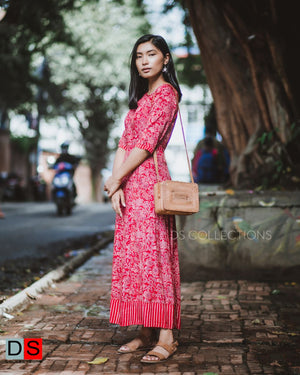 Women's Dress - Ajrak Maxi Dress | DS Collections Nepal