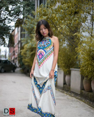 Women's Maxi Dress -Boho Style Halter Maxi Dress | DS Collections Nepal