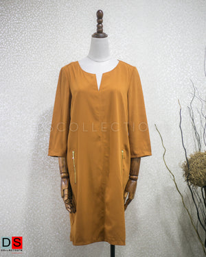 DS Collection Women  Plain Quater Sleeve Dress Nepal