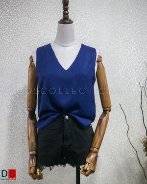 DS Collection Women  Satin Sleeveless Top Nepal
