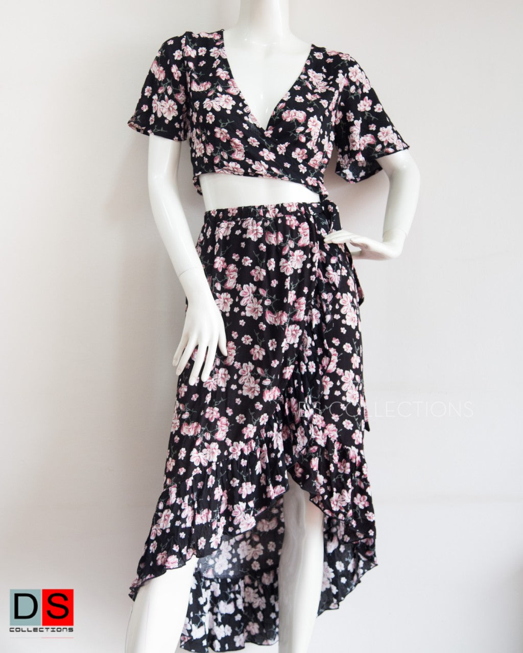 Women's Set - Floral Top And Skirt Set | DS Collections Nepal