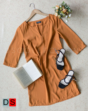 Plain Quarter Sleeve Dress